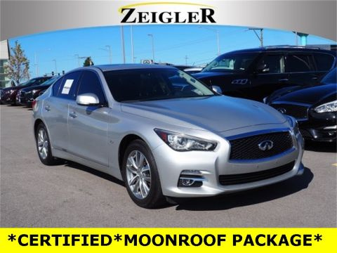 Certified Pre-Owned 2017 INFINITI Q50 2.0t MOONROOF PACKAGE